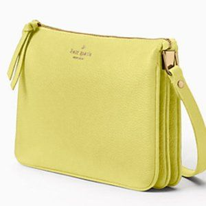 kate spade crossbody leather yellow shoulderbag